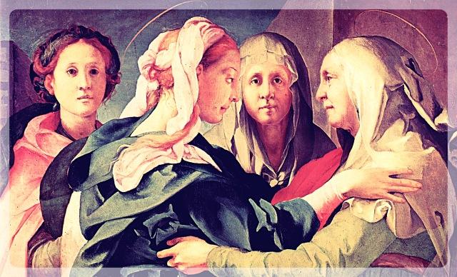 Jacopo_Pontormo_040 - Visitation - Wikimedia_Fotor