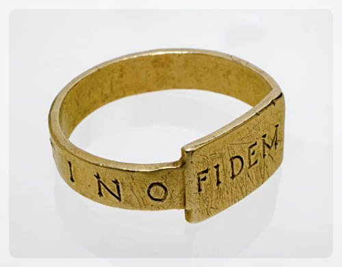 Ring Finger-ring, inscribed Fidem Constantino Roman C.306-337
